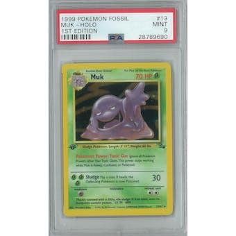 Pokemon Fossil 1st Edition Muk 13/62 PSA 9