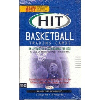 2002/03 Sage Hit Basketball Hobby Box