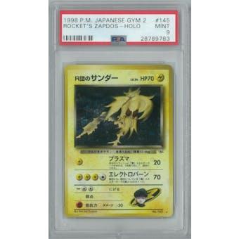 Pokemon Gym Challenge Japanese Rocket's Zapdos PSA 9