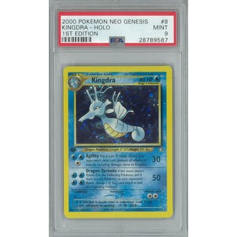 Pokemon Neo Genesis 1st Edition Kingdra 8/111 PSA 9