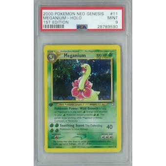 Pokemon Neo Genesis 1st Edition Meganium 11/111 PSA 9