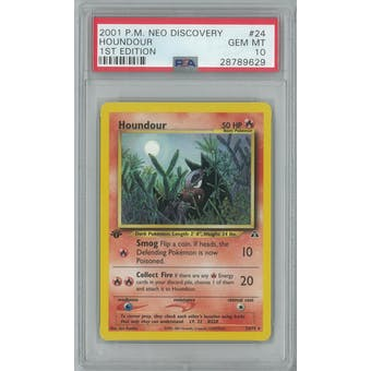 Pokemon Neo Discovery 1st Edition Houndour 24/75 PSA 10 GEM MINT