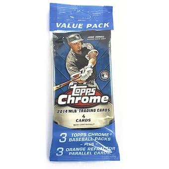 2014 Topps Chrome Baseball Value Fat Pack