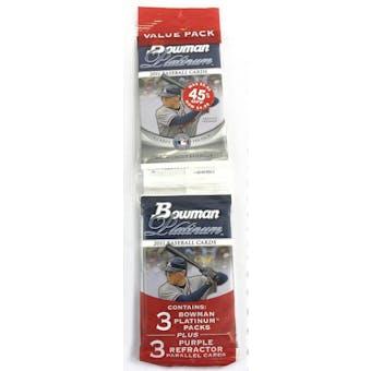 2011 Bowman Platinum Baseball Jumbo Fat Pack