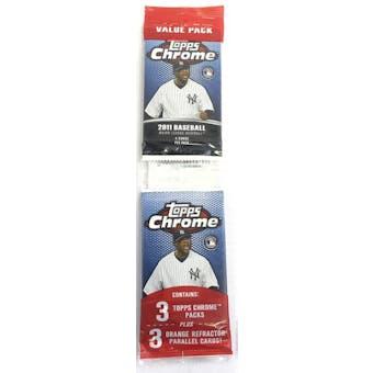 2011 Topps Chrome Baseball Value Pack