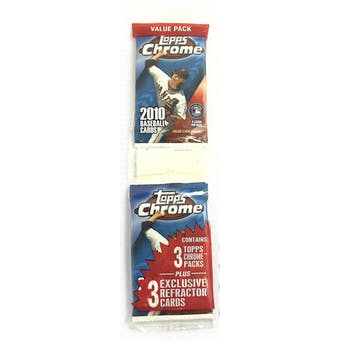 2010 Topps Chrome Baseball Jumbo Fat Pack