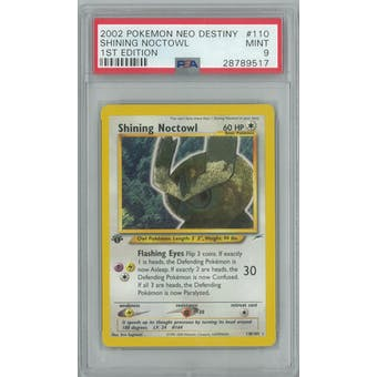 Pokemon Neo Destiny 1st Edition Shining Noctowl 110/105 PSA 9
