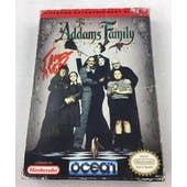 Nintendo (NES) The Addams Family AVGN James Rolfe Red Autograph Box Complete