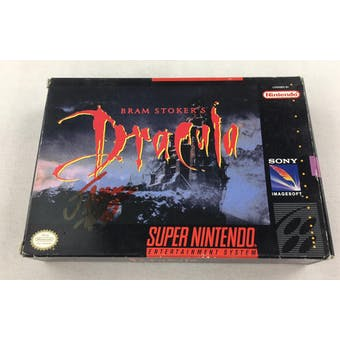 Super Nintendo (SNES) Dracula AVGN James Rolfe Red Autograph Box Complete
