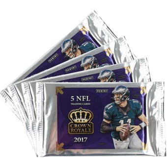 2017 Panini Crown Royale Football Ultra Pack (Lot of 4)