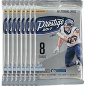 2017 Panini Prestige Football Blaster Pack (Lot of 8) = 1 Blaster