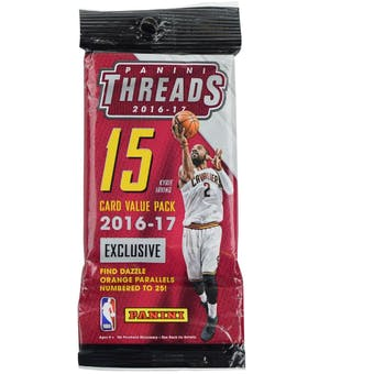 2016/17 Panini Threads Basketball Jumbo Value Pack (Lot of 12) = 1 Box!