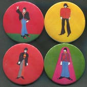 1968 King Features U.K. Beatles Yellow Submarine Button Set Of 4