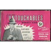 1962 Leaf TV's Famous Untouchables 5-Cent Display Box
