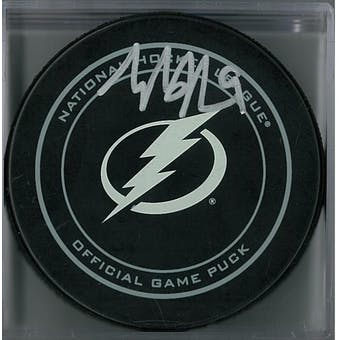 Tyler Johnson Autographed Tampa Bay Lightning Puck (Fanatics COA)