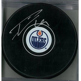 Leon Draisaitl Autographed Edmonton Oilers Hockey Puck (AJSW COA)