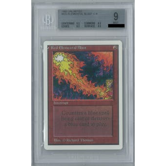 Magic the Gathering Unlimited Red Elemental Blast BGS 9 (9.5, 9.5, 8.5, 9.5)