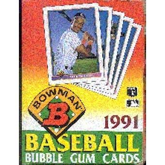 1991 Bowman Baseball Wax Box