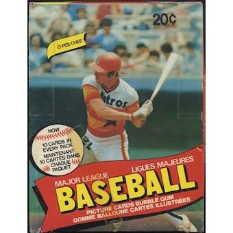 1980 O-Pee-Chee Baseball Wax Box