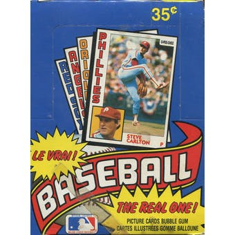 1984 O-Pee-Chee Baseball Wax Box