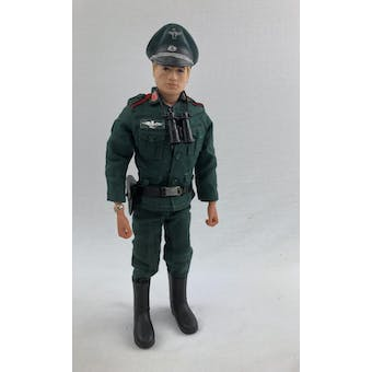 Action Man Fuzzy Head Figure in White Box Commander Hat (German Stormtrooper Parts)