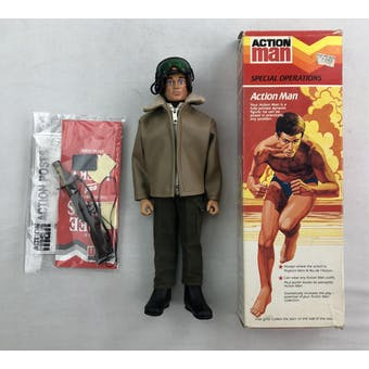Action Man Special Operations Figure with Original Box (Armoured Car Uniform Parts)