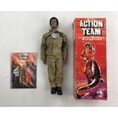 Action Man Team Tom Stone Black Figure with Uniform in German Original Box
