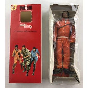 GI Joe Polistil Action Team Black Air Adventurer Uniform in Original Box