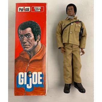 GI Joe Polistil Action Team Black Figure with Original Box