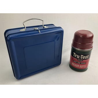 Vintage Blue Tin Lunchbox & Thermos
