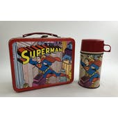 Superman 1967 Lunch Box with Thermos