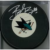Brent Burns Autographed San Jose Sharks Puck Large Logo (AJSW COA)