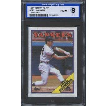 1988 Topps Cloth Baseball Joel Skinner ISA 8 (NM-MT) *3060 (Test Set)