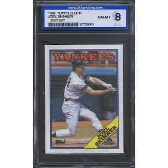 1988 Topps Cloth Baseball Joel Skinner ISA 8 (NM-MT) *3061 (Test Set)