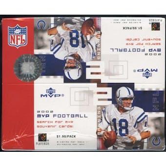 2002 Upper Deck MVP Football 24 Pack Box