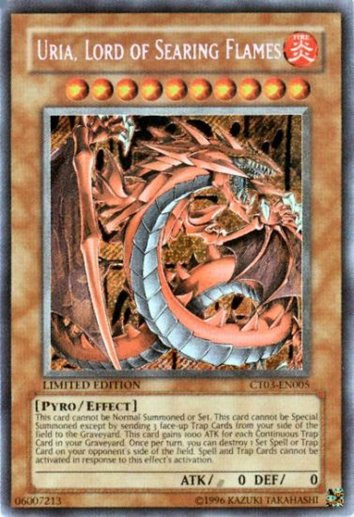 Yu-Gi-Oh Limited Edition Tin Single Uria, Lord of Searing ...Yugioh Uria Deck