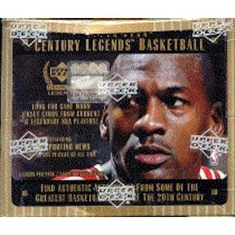1998/99 Upper Deck Century Legends Basketball Hobby Box
