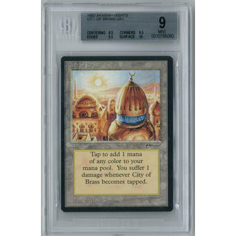 Magic the Gathering Arabian Nights City of Brass BGS 9 (8.5, 9.5, 9.5, 10)