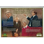 1991/92 Upper Deck Commemorative Basketball Coaches Sheet Knight/Wooden/Rupp/Smith
