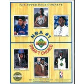 "1991 12th Annual National Sports Collectors Commemorative Sheet ""NBA 1st Draft Choice"""