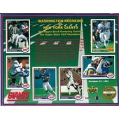 1991 Upper Deck New York Giants Super Bowl XXV Commemorative Sheet