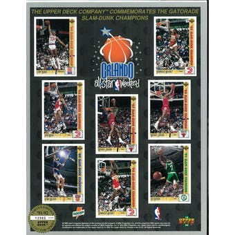 1991/92 Upper Deck All Star Game Dunk Competition Commemorative Sheet