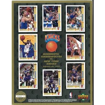 1991/92 Upper Deck New York Knicks Commemorative Sheet Ewing/Wilkins