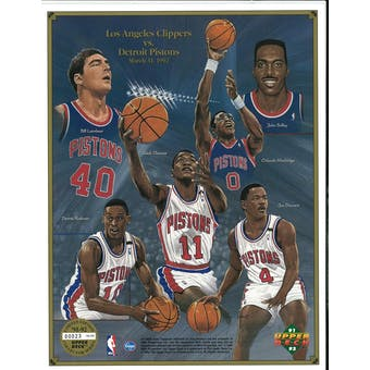 1991/92 Upper Deck Detroit Pistons Commemorative Sheet Rodman/Thomas