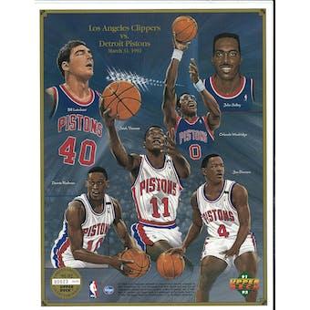 1991/92 Upper Deck Detroit Pistons Commemorative Sheet Rodman/Thomas