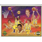 "1991/92 Upper Deck Commemorative Sheet ""UD Remembers the 71/72 World Champion"" Lakers"