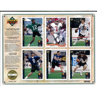 1992 Upper Deck NFL Properties Insert Set Sell Sheet Version 1 of 8