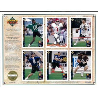 1992 Upper Deck NFL Properties Insert Set Sell Sheet Version 1 of 8