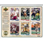 1992 Upper Deck NFL Properties Insert Set Sell Sheet Version 2 of 8