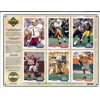1992 Upper Deck NFL Properties Insert Set Sell Sheet Version 2 of 8